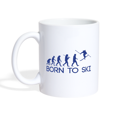 Born to Ski - Coffee and Tea Mug - white