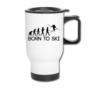 Born to Ski Travel Mug - Ski Lover On the Go Mug!