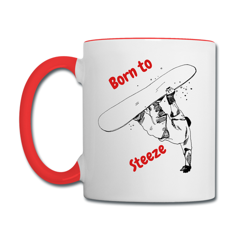 Born to Board - white/red