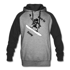 Born to Snowboard Colorblock Hoodie