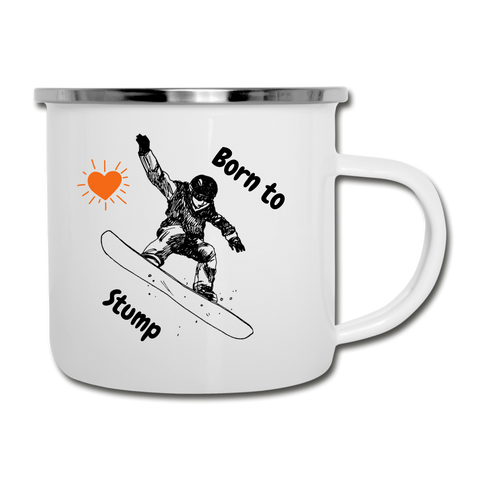 Born to Shreddin the Gnar Camper Mug - white