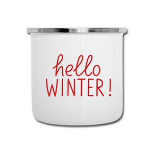 Hello Winter Camper Mug - Mug for Ski Lovers