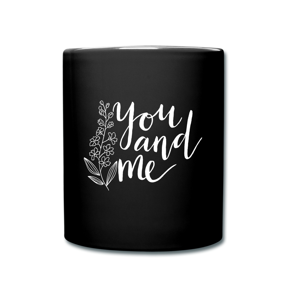 I love you to the moon and back Full Color Mug - black