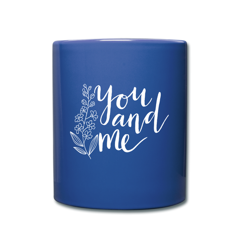 Image of I love you to the moon and back Full Color Mug - royal blue