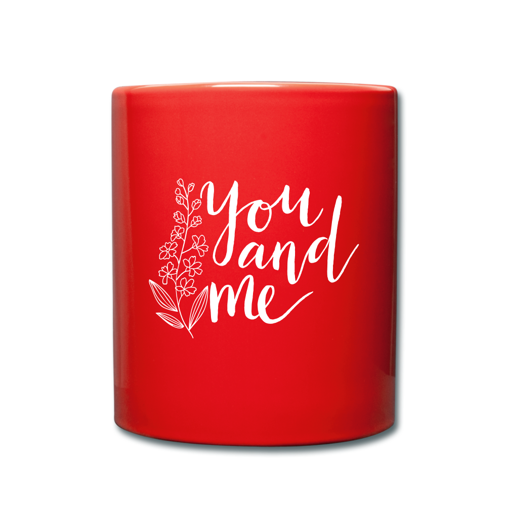 I love you to the moon and back Full Color Mug - red