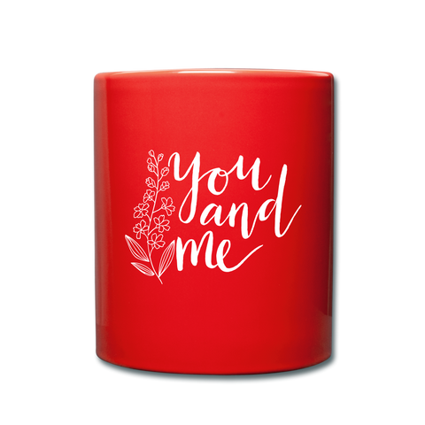 Image of I love you to the moon and back Full Color Mug - red