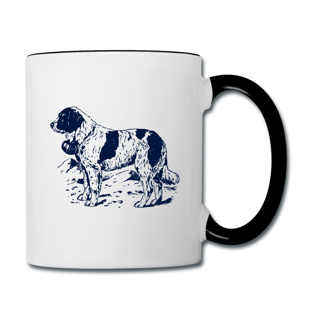 I love St. Bernards Contrast Coffee Mug - white/black