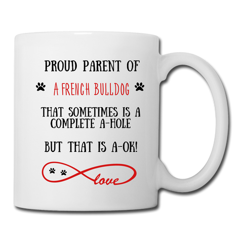 Image of French Bulldog gift, French Bulldog mug, French Bulldog cup, funny French Bulldog gift, French Bulldog thank you, French Bulldog appreciation, French Bulldog gift idea - white