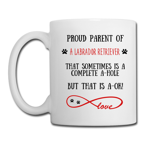 Image of Labrador Retriever gift, Labrador Retriever mug, Labrador Retriever cup, funny Labrador Retriever gift, Labrador Retriever thank you, Labrador Retriever appreciation, Labrador Retriever gift idea - white