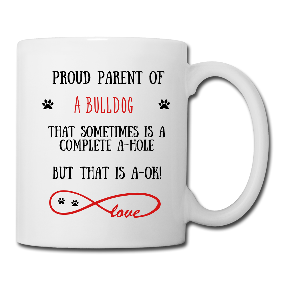 Bulldog gift, Bulldog mug, Bulldog cup, funny Labrador Retriever gift, Bulldogr thank you, Bulldog appreciation, Bulldog gift idea - white