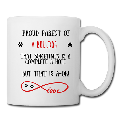 Image of Bulldog gift, Bulldog mug, Bulldog cup, funny Labrador Retriever gift, Bulldogr thank you, Bulldog appreciation, Bulldog gift idea - white