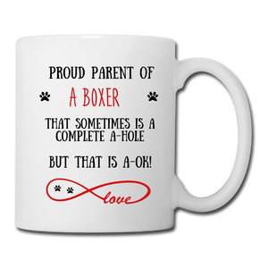 Boxer gift, Boxer mom, Boxer mug, Boxer gift for women, Boxer mom mug, Boxer mommy, Boxer doodle - white