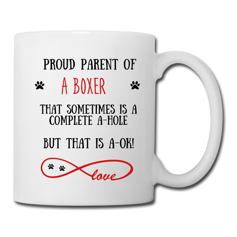 Image of Boxer gift, Boxer mom, Boxer mug, Boxer gift for women, Boxer mom mug, Boxer mommy, Boxer doodle - white