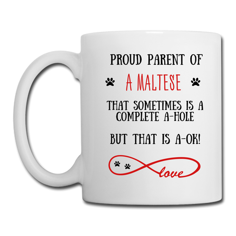 Maltese gift, Maltese Dog mom, Maltese Dog mug, Maltese Dog gift for women, Maltese Dog mom mug, Maltese Dog mommy, Maltese Dog - white