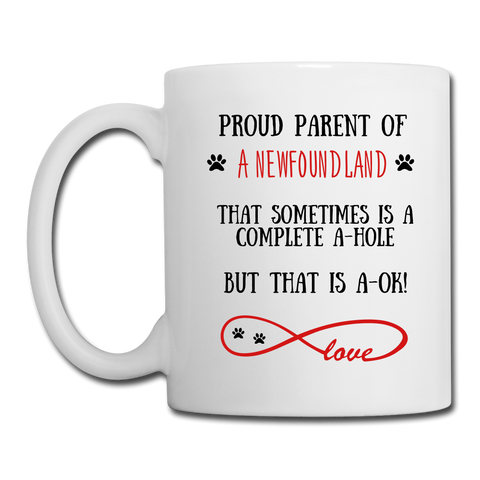 Image of Newfoundland gift, Newfoundland mom, Newfoundland mug, Newfoundland gift for women, Newfoundland mom mug, Newfoundland mommy, Newfoundland - white