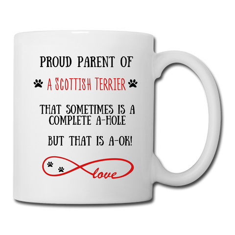 Image of Scottish Terrier gift, Scottish Terrier mom, Scottish Terrier mug, Scottish Terrier gift for women, Scottish Terrier mom mug, Scottish Terrier mommy, Scottish Terrier - white