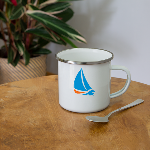 Image of I love Sailing Camper Mug - white