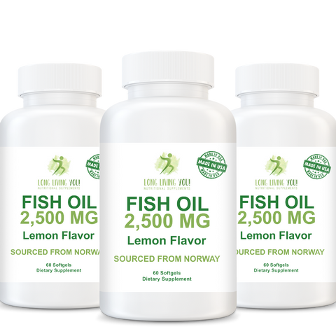Image of Omega 3 Fish Oil - 2500mg Lemon Flavor