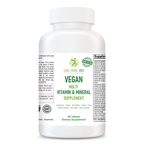 Vegan Vitality - Multi Vitamin and Mineral Supplement for Adults