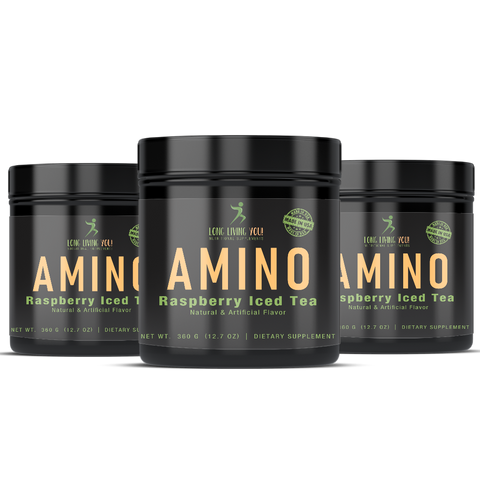Image of Amino Energy Raspberry Iced Tea, 360g/9g serv./40 serv.