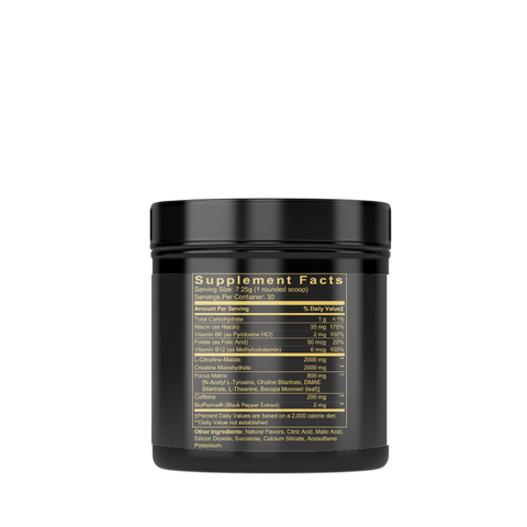 Pre-Workout Formula, Energy & Focus Lemonade, 214g/7.25g serv./30 serv.