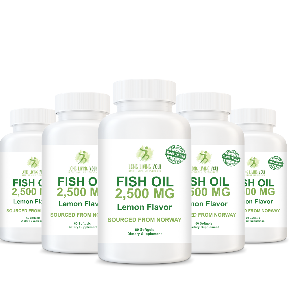 Omega 3 Fish Oil - 2500mg Lemon Flavor
