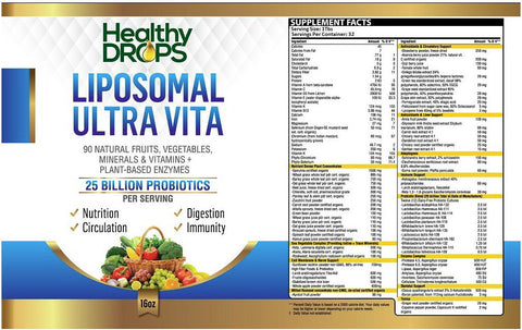 LIPOSOMAL ULTRA VITA | BLEND OF 90 NATURAL VITAMINS AND MINERALS