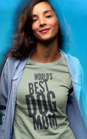 Image of World's Best Dog Mom - 100% Cotton T-Shirt