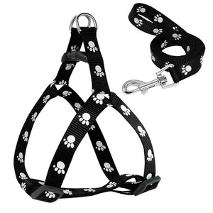 Harness with Paw Prints for Small to Medium Dogs