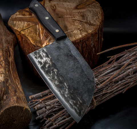 Image of Hand Forged Serbian Chef Knife - A Must Have For Raw Feeders!