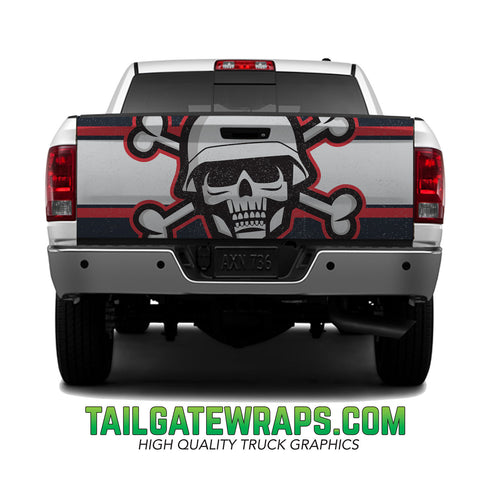 Skull Soldier Tailgate Wrap