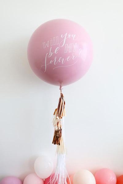 Hand-Lettered Balloon