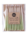 "Hand-dipped 3"" Mint Ombré Beeswax Candles"