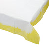 White and Yellow Square Table Cover