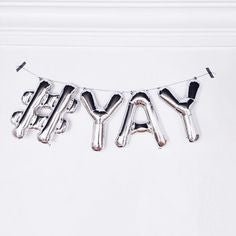 16 inch Silver Letter Balloon