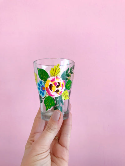 Handpainted Floral Glasses