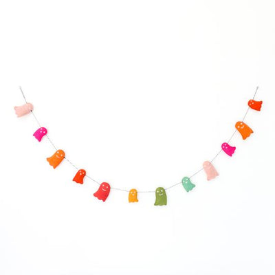 Ghost Felt Halloween Garland