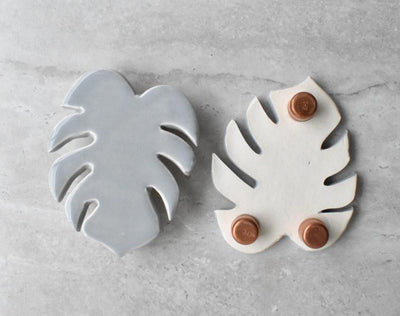 Ceramic Monstera Soap Dish