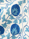 Multi-Blue Floral Embroidery Table Cover