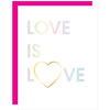Love is Love Holographic Paper Clip Card