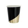 Black Colorblock Cups
