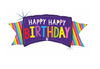 "46"" Rainbow Banner Birthday Balloon"