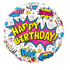 "18"" Birthday Super Hero Mylar Balloon"