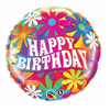 "18"" Birthday Psychedelic Daisies Balloon"