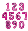 34 inch Pink Number Balloon