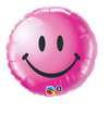 "18"" Smiley Face Wild Berry Mylar"