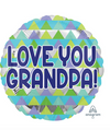 "17"" Grandpa Triangle Pattern Mylar"