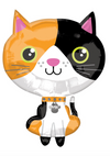 "21"" Calico Cat Mylar Balloon"
