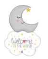 Welcome Baby Moon Mylar Balloon