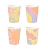 Psychedelic 60s Party Cups